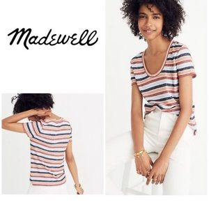 Madewell scoop neck tee.